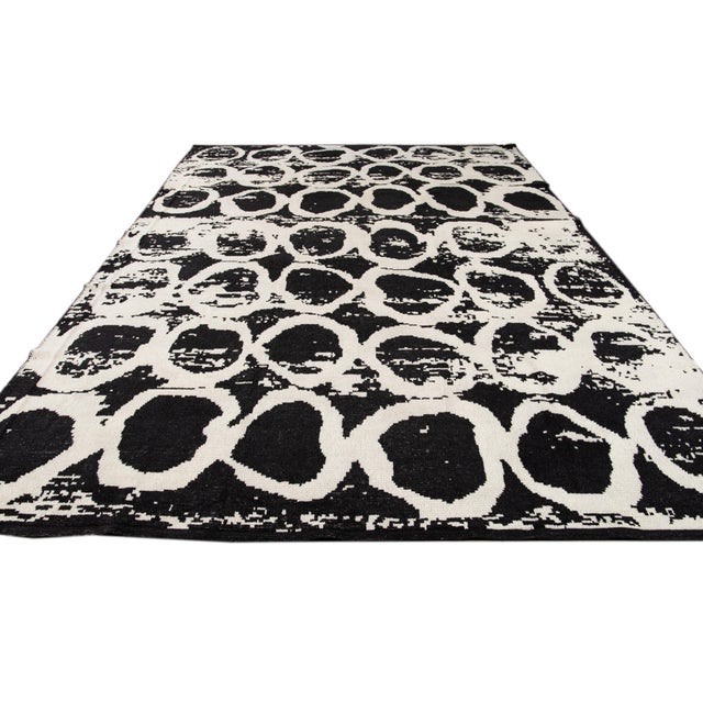21st Century Modern Moroccan Style Wool Rug For Sale - Image 12 of 13