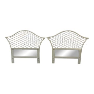 Rattan Ficks Reed Pagoda Twin Headboards - a Pair For Sale