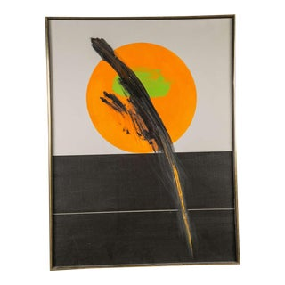 1960's Abstract Oil Painting For Sale