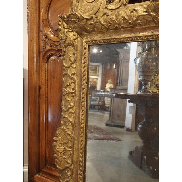 Period Louis XIV Giltwood Mirror, Circa 1700, Provence For Sale - Image 5 of 11