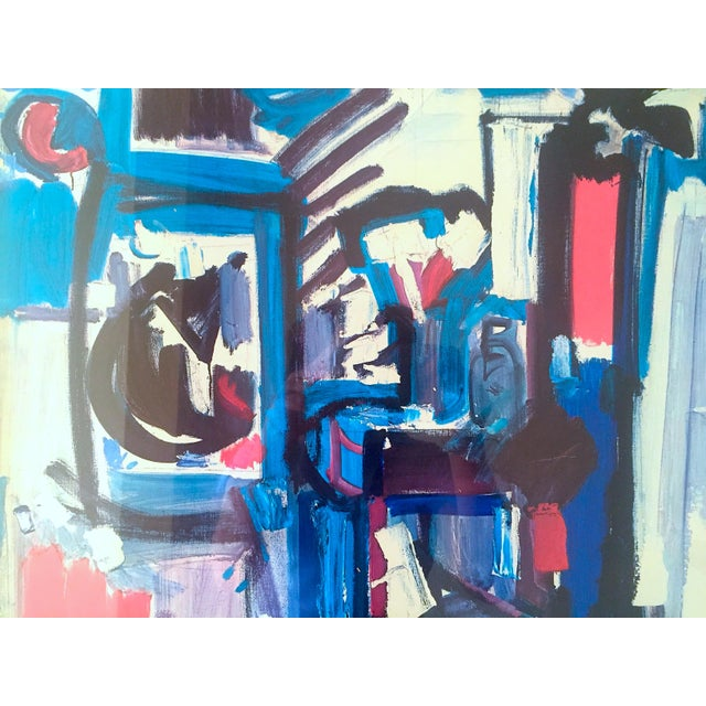 """Various Artists Hans Hofmann Rare Vintage 1968 Mid Century Modern Abstract Expressionist Framed Collector's Lithograph Print """" Exuberance """" 1955 For Sale - Image 4 of 13"""