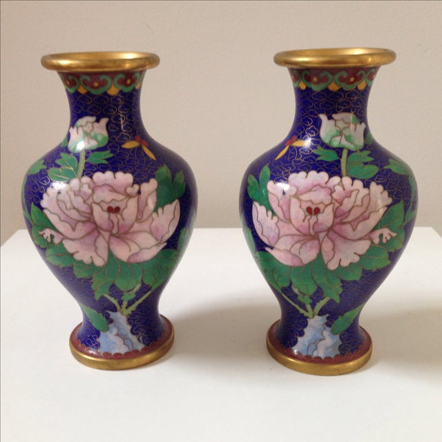 Cloisonné Vases - A Pair - Image 3 of 8