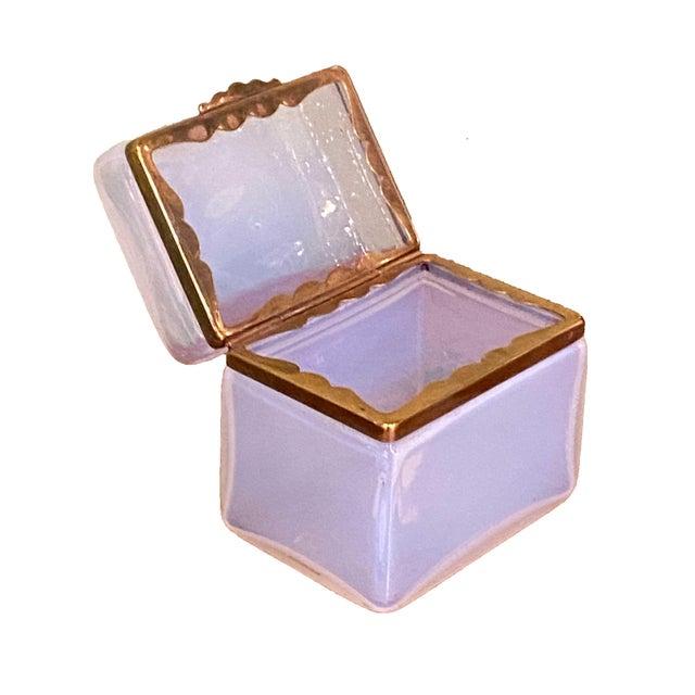 Murano Mid 20th Century Murano Clear White Box For Sale - Image 4 of 7