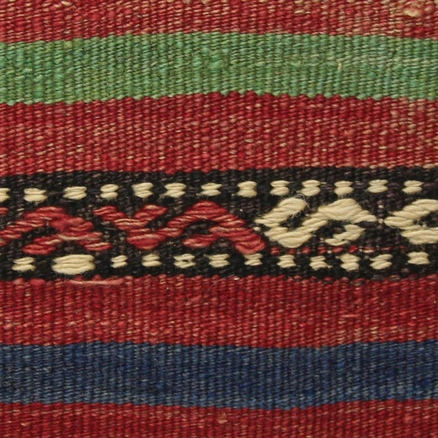 Turkish Handmade Kilim Pillow Cover - Image 4 of 7