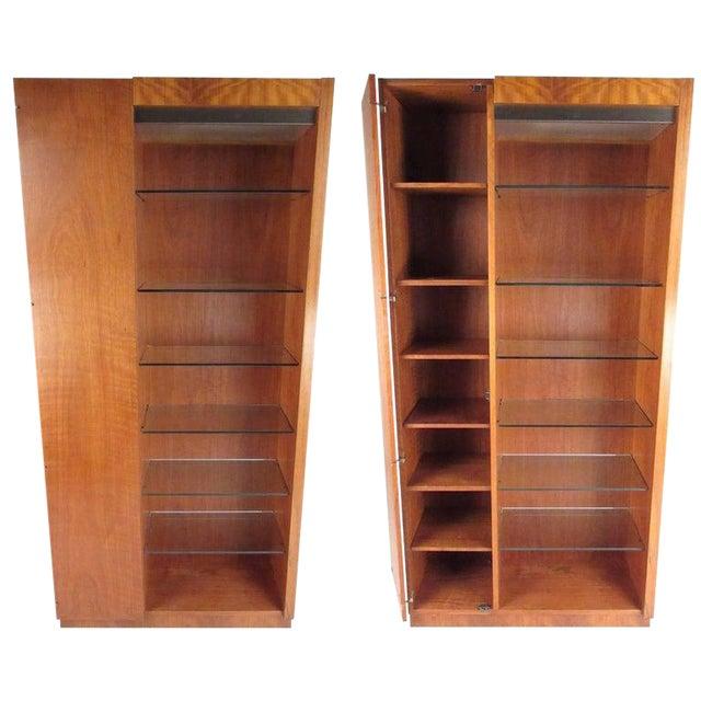 Pair of Scandinavian Modern Teak Display Cabinets For Sale