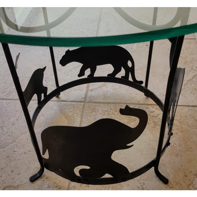 20th Century Figurative Hand Crafted Iron Carousel Side Table For Sale - Image 4 of 8