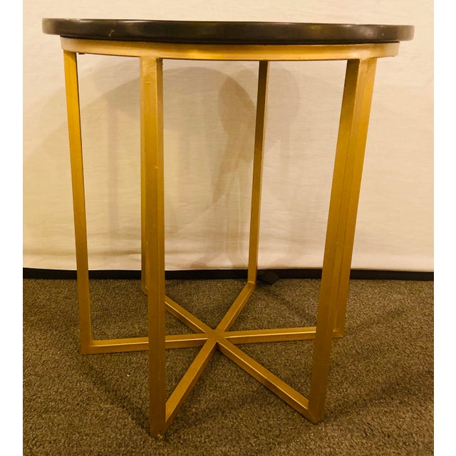 Moroccan Brass Side Table For Sale - Image 11 of 13
