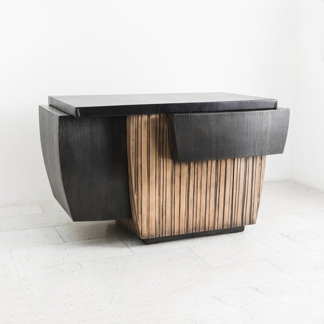 Blackened Steel and Layered Bronze Desk, Usa, 2019 For Sale - Image 12 of 13