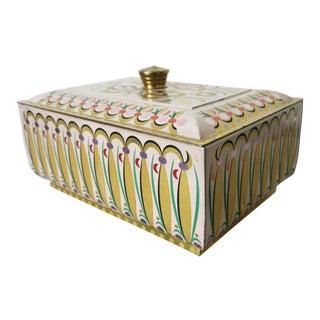 Vintage Mid-Century German Tin Box For Sale