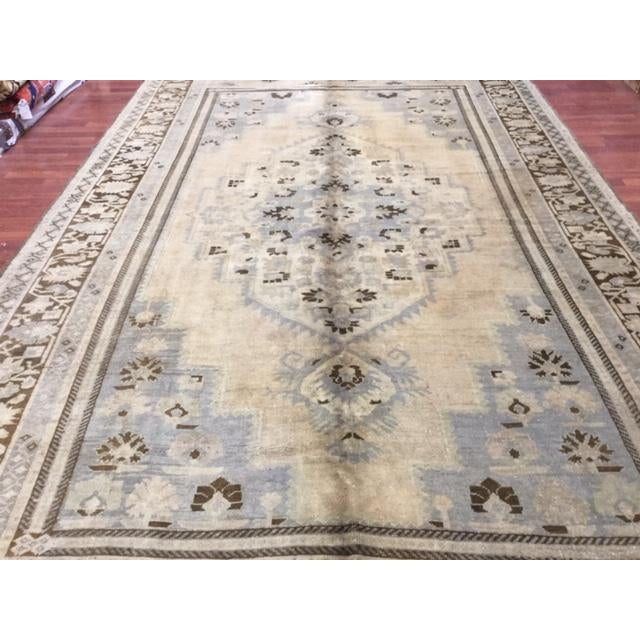 """1950's Turkish Kaspinar Rug-7'7""""x12'9"""" For Sale In Pittsburgh - Image 6 of 11"""