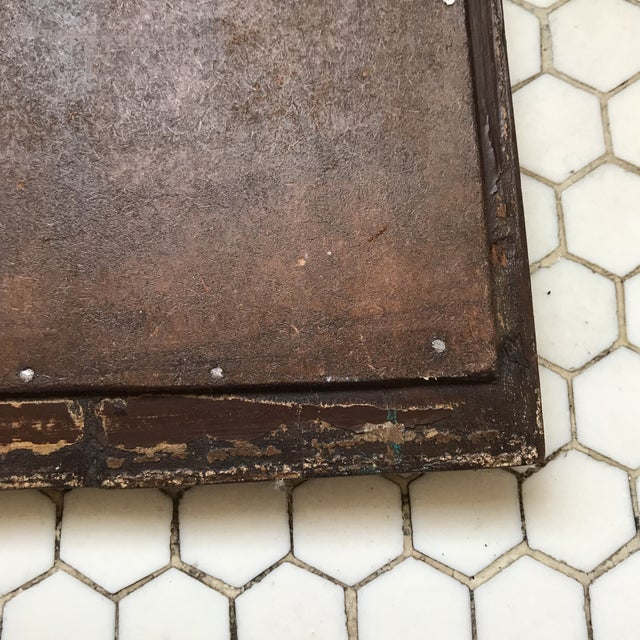 Vintage Indian Archway Painted Teak Mirror For Sale - Image 9 of 11
