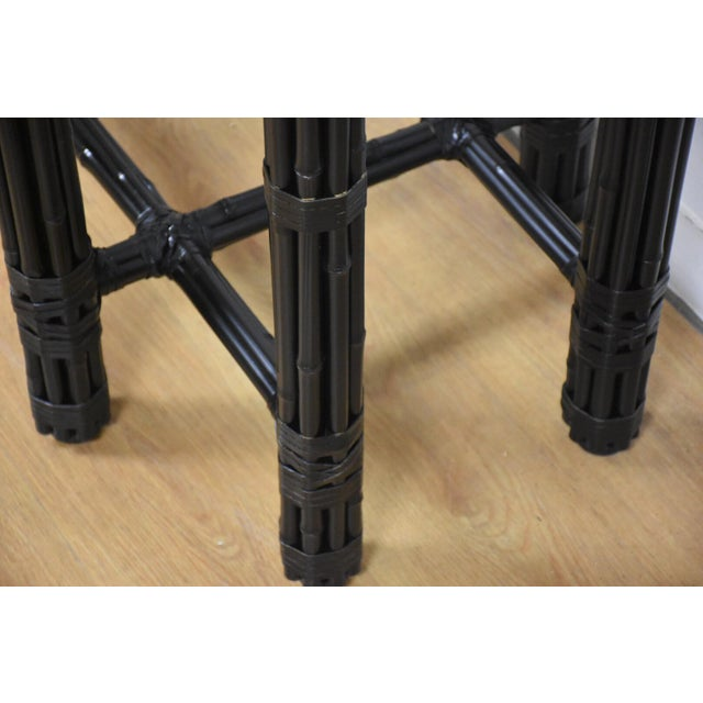 McGuire Black Bamboo Dining Table Base - Image 7 of 11