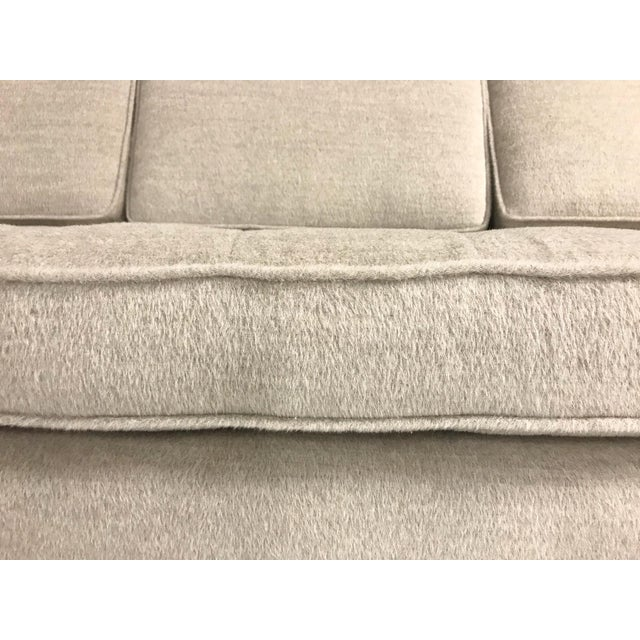 Vintage Mid-Century 2-Piece Sectional Sofa Restored in Gray Loro Piana Alpaca Wool For Sale - Image 11 of 12