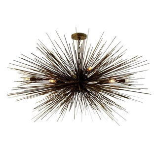 Eight-Light Lumière Chandelier by Jean De Merry Design For Sale