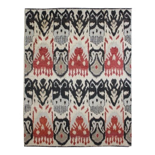 "Hand Knotted Ikat Rug - 12'5"" X 9'2"""