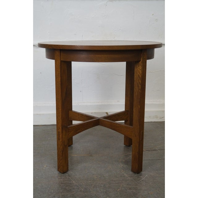 Mission Stickley Mission Oak Side Table For Sale - Image 3 of 10