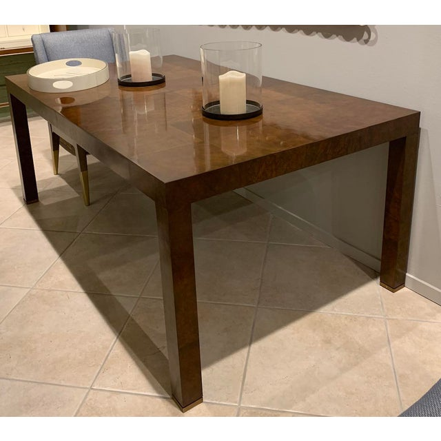 """The Bel Air Parsons Dining Table extends to 118"""" (300 cm) with two 22"""" (56 cm) leaves. This table seats six with no..."""