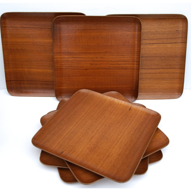 Mid-Century Teak Trays - Set of 7 - Image 2 of 8