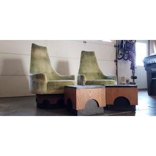 "1960s Vintage Adrian Pearsall ""Strictly Spanish"" Lucky Green With End Table Set- 4 Pieces Preview"