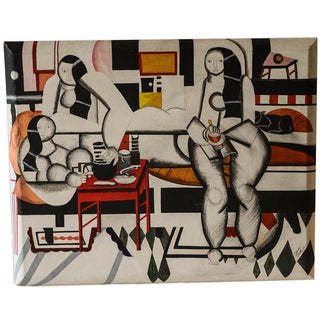 Mid-Century Painting after Fernand Leger For Sale