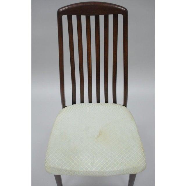 Vintage Dyrlund Mid Century Danish Modern Teak Dark Wood Dining Side Chair For Sale In Philadelphia - Image 6 of 11
