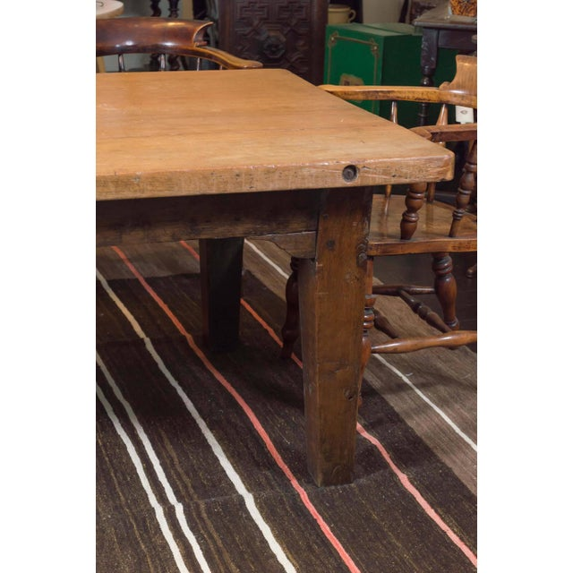 Very large-scale farm house table, English, circa 1840 29 in. H x 43 in.W x 9 ft. 4 in. D 74 cm H x 109 cm W x 284 cm D