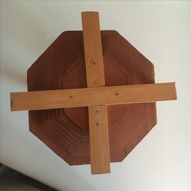 Brutalist Style Modern Handmade Collapsing Basket - Image 3 of 5