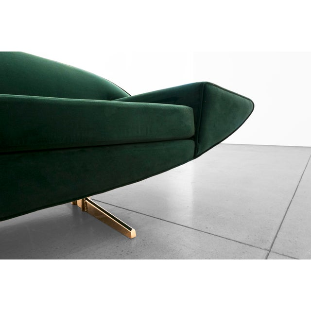 "Gold Johannes Anderson, ""Capri"" Sofa, C. 1950 - 1959 For Sale - Image 8 of 10"