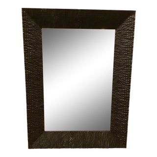 Studio a Home Modern Kyoto Black Textured Wall Mirror For Sale