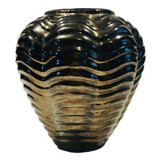 Haeger Contemporary Gold Vase For Sale