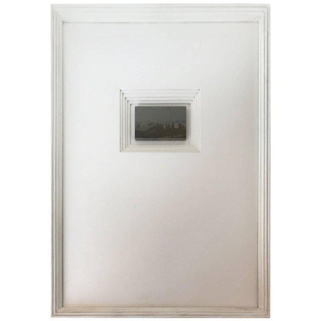 Gray 21st Century Custom Framed Paesan For Sale - Image 8 of 8