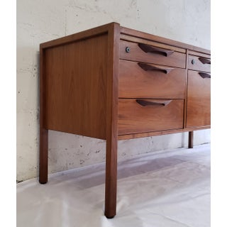 1960s Jens Risom Mid Century Modern Solid Walnut Credenza Preview