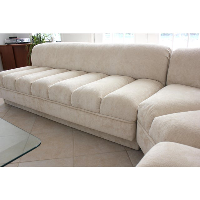 Textile Vladimir Kagan Attributed Directional Sectional Sofa For Sale - Image 7 of 13