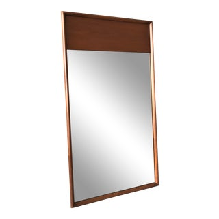 Drexel Heritage Minimalist Oak Mirror For Sale