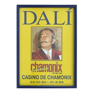 1990s Dali Exhibition Poster From Chamonix - Mont-Blanc, France For Sale