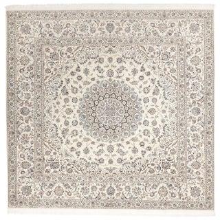 "Persian Wool & Silk Rug - 6'10""x 6'10"" For Sale"