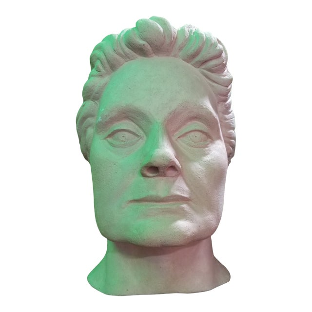 Life-Size Terracotta Bust by Herman Roderick Volz For Sale
