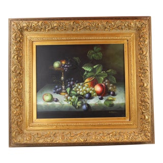 Pasargad DC Fruit Still Life Oil Painting on Canvas For Sale