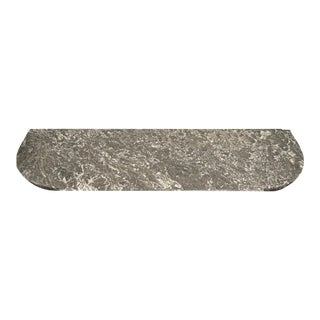 Grey and White Marble Tabletop For Sale