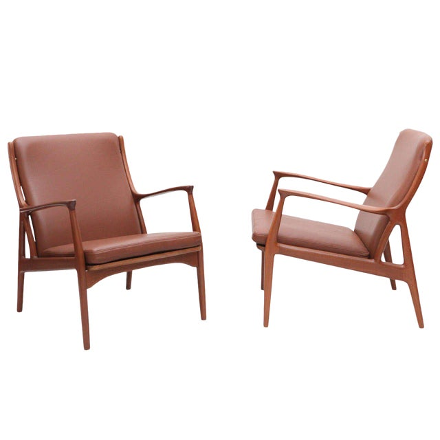 Pair of S. A. Andersen Lounge Chairs - Image 1 of 10