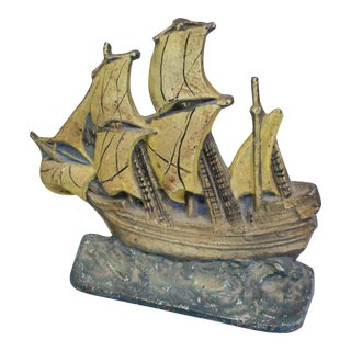 Late 20th Century Vintage Mayflower Doorstop For Sale