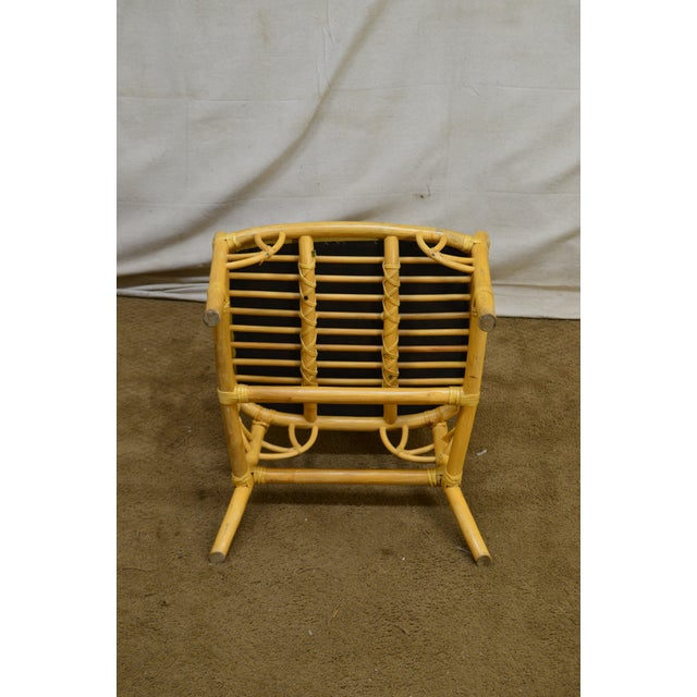 White McGuire Style Vintage Rattan Bamboo Spider Back Dining Chairs - Set of 8 For Sale - Image 8 of 13