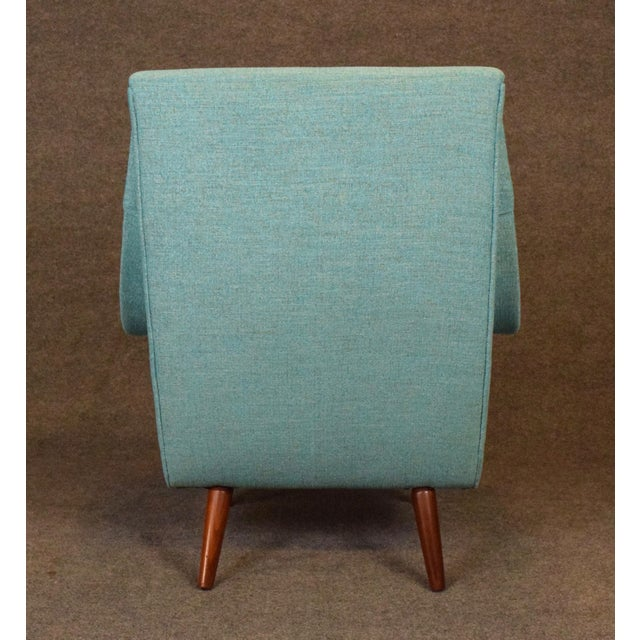 Fabric 1960s Vintage Danish Modern Lounge Chair For Sale - Image 7 of 11