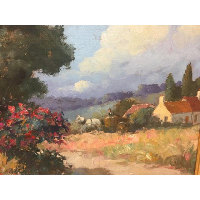 Stojan Milanov Oil Painting Impressionistic Village Scene For Sale - Image 4 of 7