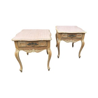 Vintage French Country Style End Tables - Pair