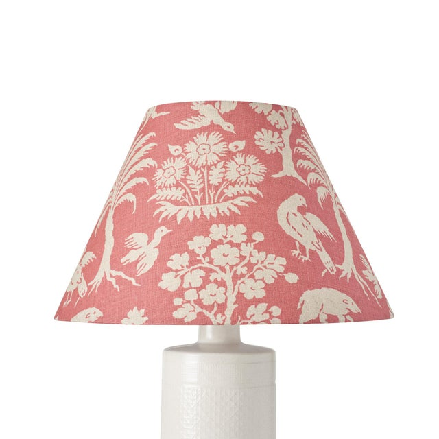 This lampshade features our Woodland Silhouette pattern in Rhubarb. A charming, of-the-moment print inspired by an early...
