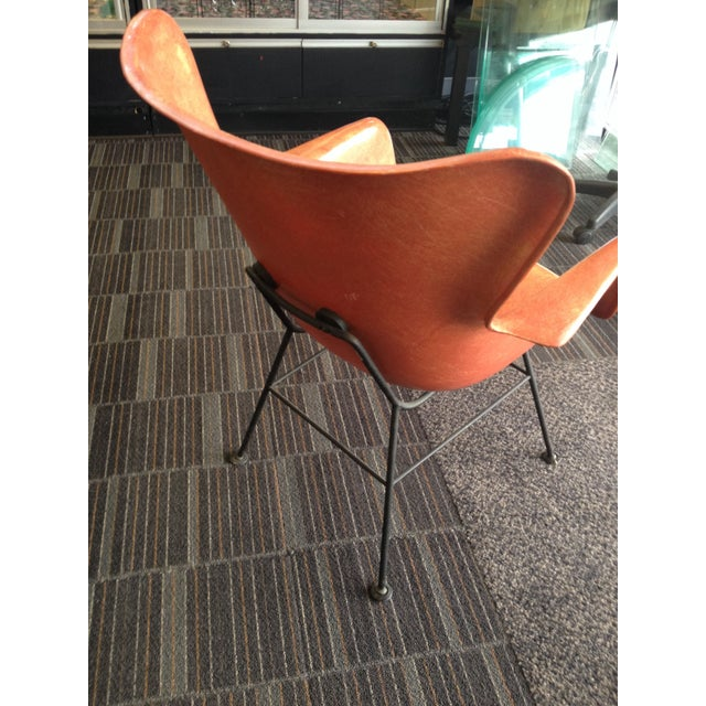 Lawrence Peabody Lawrence Peabody Fiberglass Shell Chair For Sale - Image 4 of 8