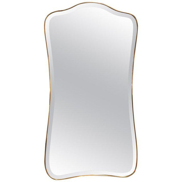 Gold Giant Midcentury Italian Molded Wall Mirror, 1950s For Sale - Image 8 of 8