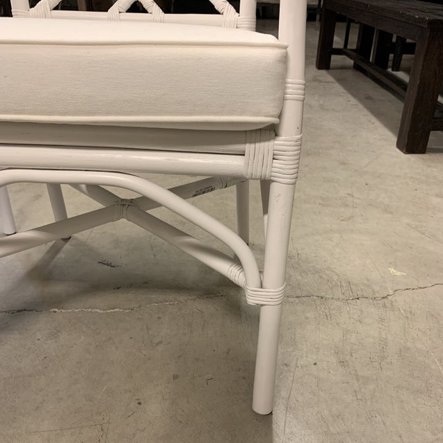New New Pacific Direct Kara Rattan White Arm Chairs For Sale In San Francisco - Image 6 of 12