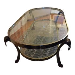 1970s Hollywood Regency Maison Jansen Rams Head Table For Sale